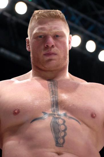 Brock Lesnar staredown